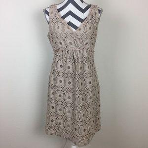 Suzi Chin for Maggy Boutique Beige Lace Dress